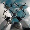 ドローンからのスカイダイビング!人間がドローンに吊られて空を飛ぶ!
