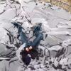 凍ったトランポリンにダイブの瞬間をスローモーション!氷が割れていく様子が気持ちイイ!