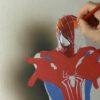 ホントに紙に書いてるの!?リアルすぎるスパイダーマンの3Dアート!