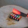 危険な実験!熱した包丁でライターを切断した結果がヤバすぎる!