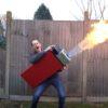 超巨大ライターを自作!?もはや火炎放射器!