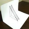 本当に梯子があるようにしか見えない!意外と簡単に描けるトリックアート!