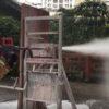 消防士のホースが進化した!レンガも金属も貫通して室内に水をばらまく!