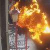 衝撃映像!襲い来る炎からの奇跡の生還!
