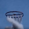 タイで円盤ロケットの打ち上げ!直接ロケットに火をつけて円盤を回している人たちにハラハラする・・・。