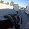衝撃映像!!大型トラックに向かって転倒したバイク運転手が奇跡の生還!