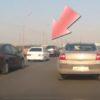 モスクワの高速道路での衝撃映像!トランクに積んでいたガスボンベが突如爆破!