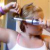 ヘアメイクの動画を撮影していた女の子を襲った悲劇・・・。ヘアアイロンに巻いていた髪が溶けていく。